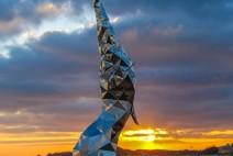 전국 최대 해상조형물 '새빛왜목' 웅장한 자태 드러내다