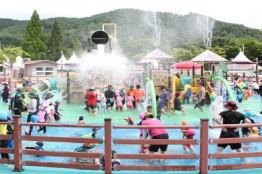 서산시 야외물놀이장, 가족단위 피서지로 인기