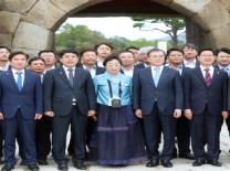문재인 대통령 서산 해미읍성 방문!